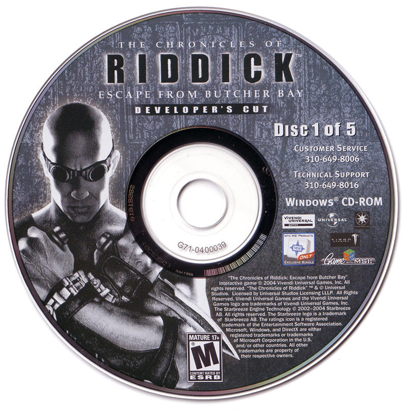 The Chronicles of Riddick: Escape from Butcher Bay Windows Media Disc 1/5