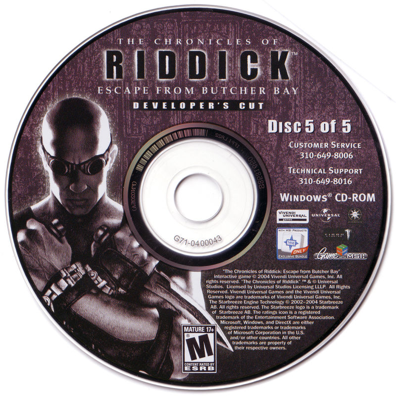 The Chronicles of Riddick: Escape from Butcher Bay Windows Media Disc 5/5