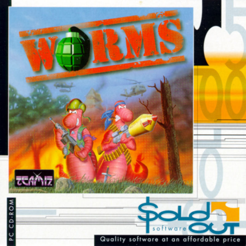 Worms DOS Other Cardboard Holder - Front