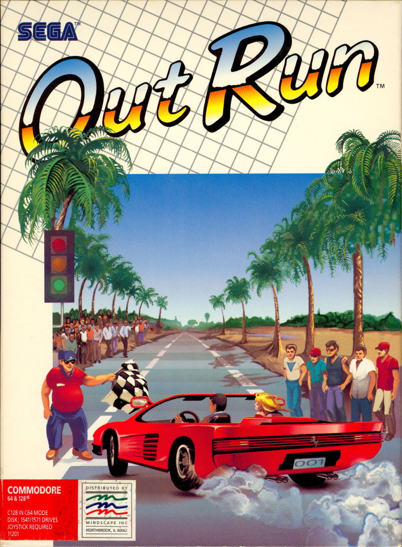 OutRun Commodore 64 Front Cover
