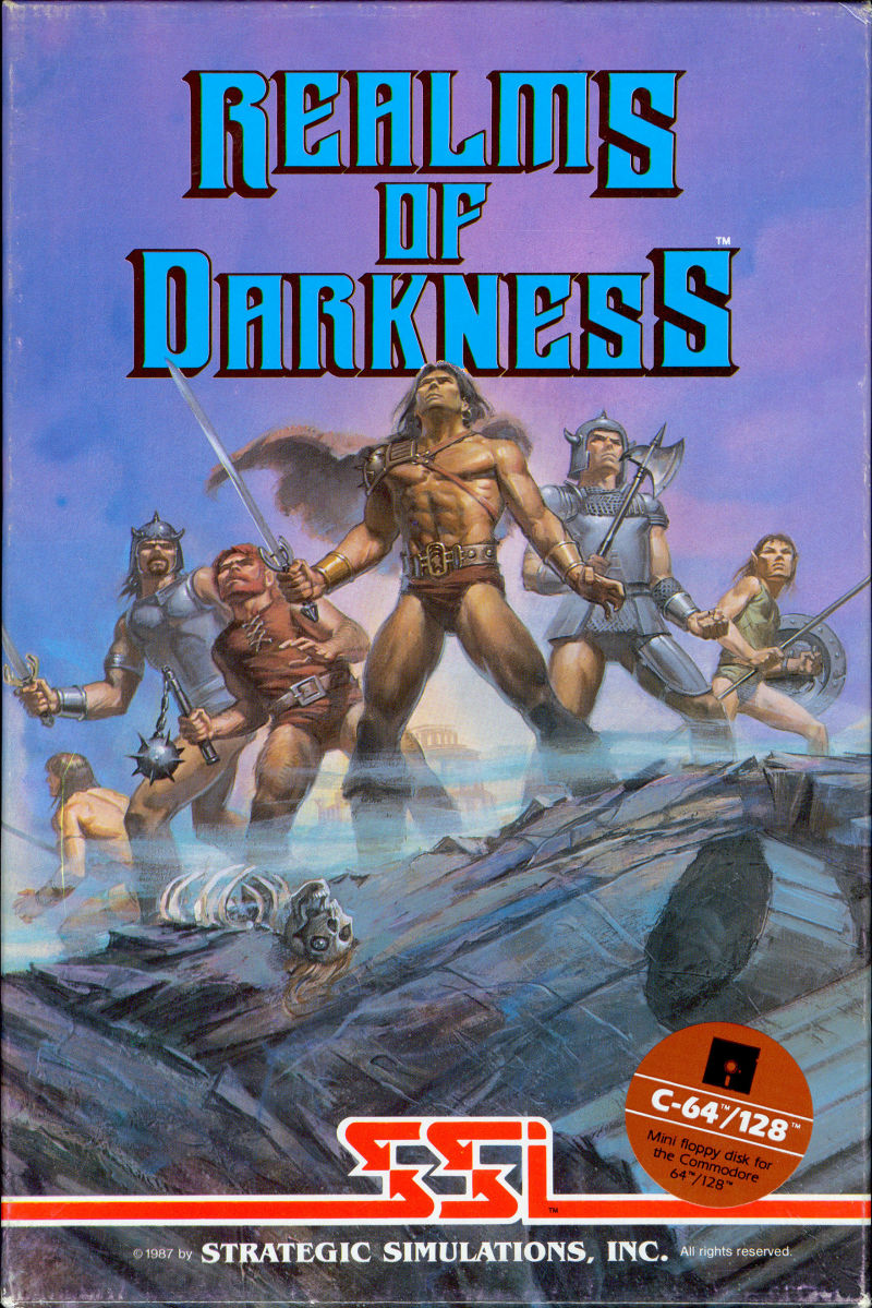 Realms of Darkness Commodore 64 Front Cover