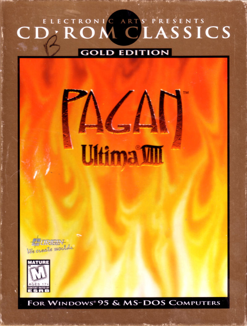 Pagan: Ultima VIII: Gold Edition DOS Front Cover