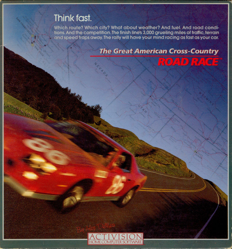The Great American Cross-Country Road Race Commodore 64 Front Cover