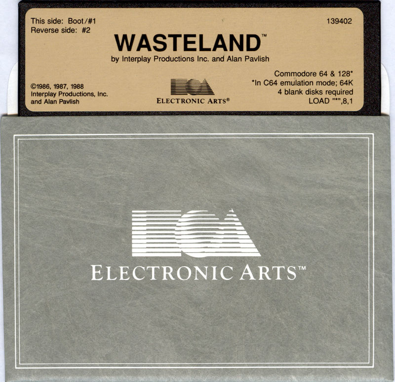 Wasteland Commodore 64 Media Disk 1/2