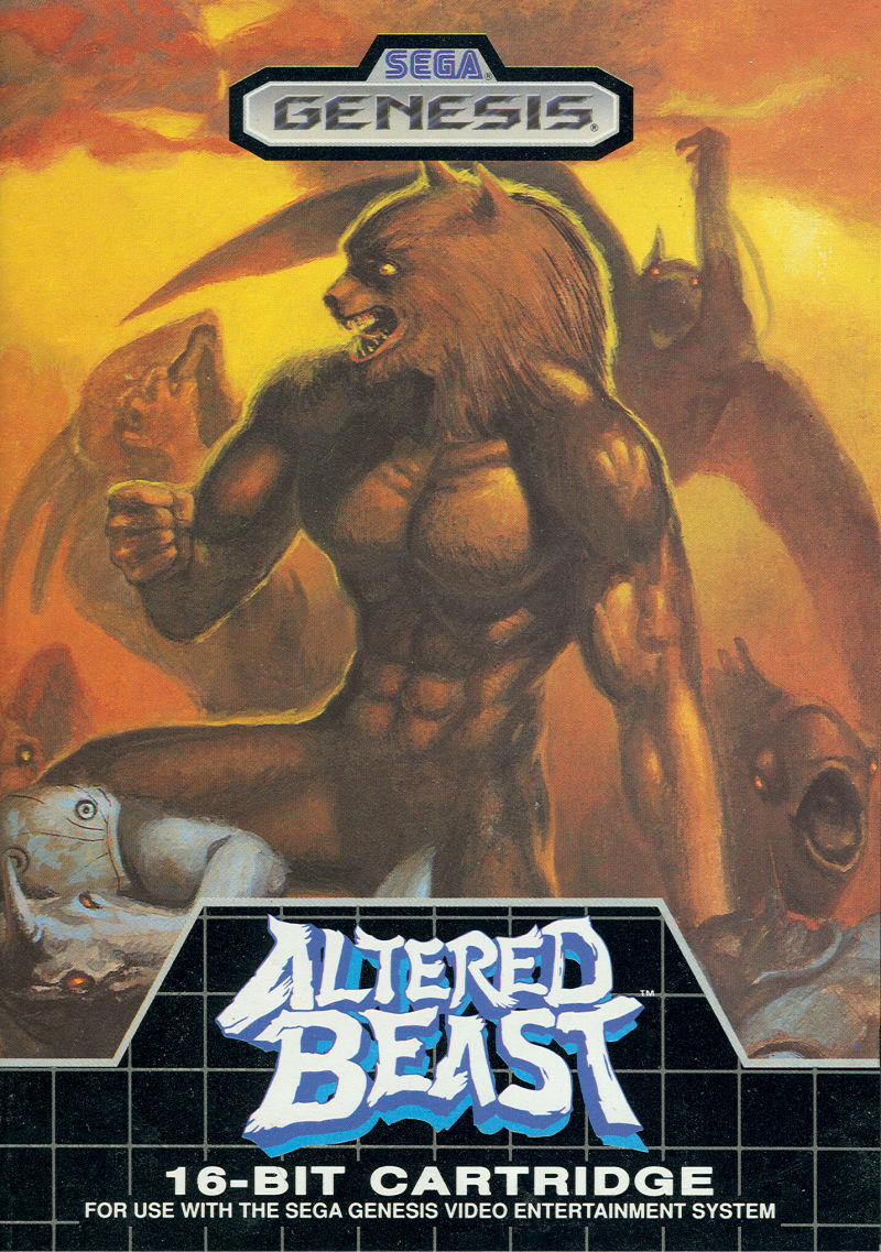 Altered Beast Genesis Front Cover