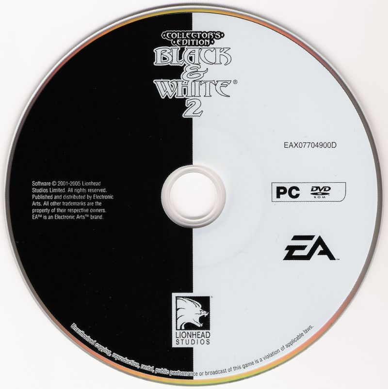 Black & White 2 (Collector's Edition) Windows Media Disc 1/2