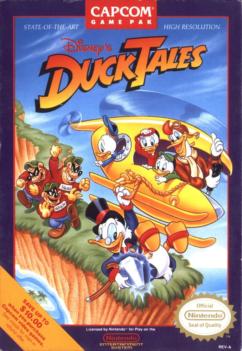 Disney's DuckTales NES Front Cover