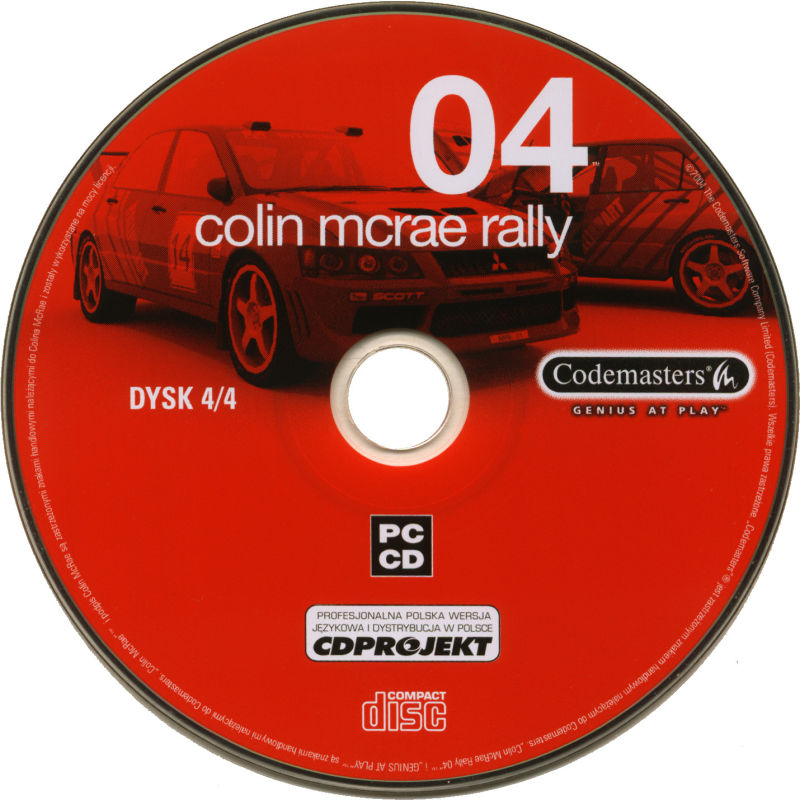 Colin McRae Rally 04 Windows Media Disc 4/4