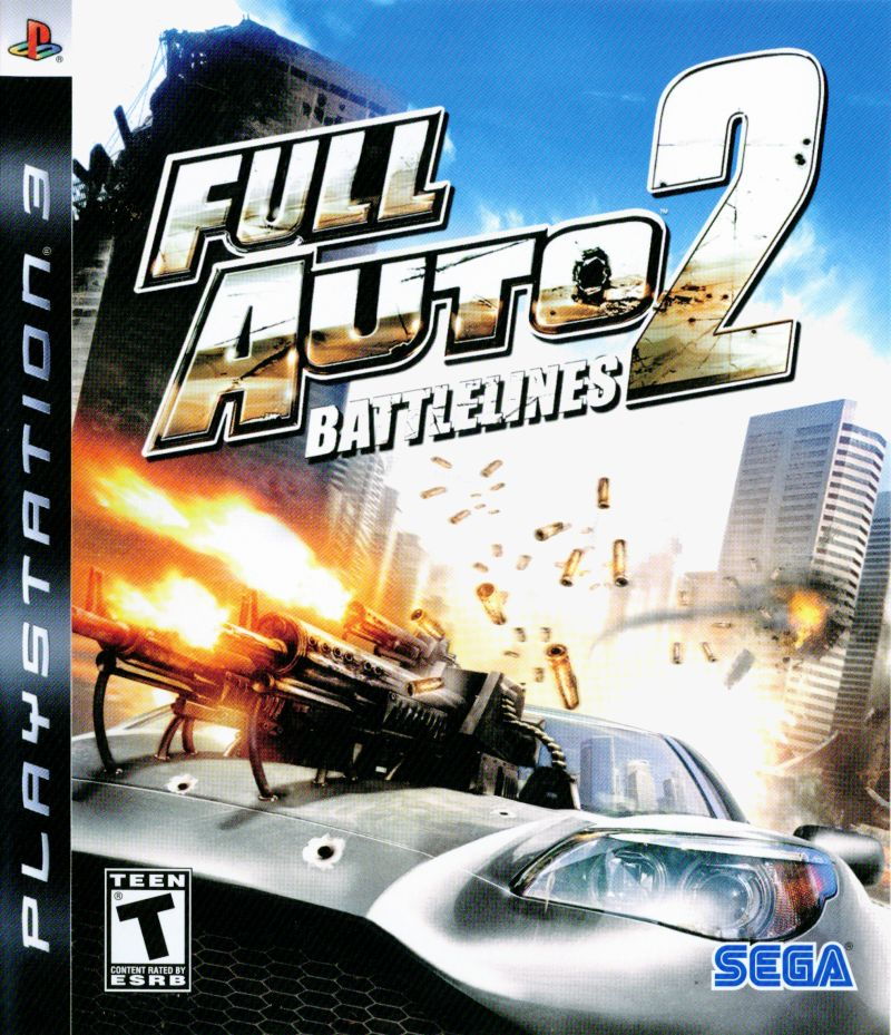 Full Auto 2: Battlelines PlayStation 3 Front Cover