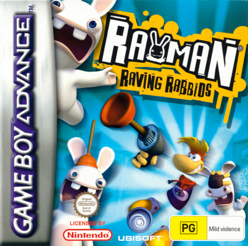 Rayman Raving Rabbids Game Boy Advance Front Cover