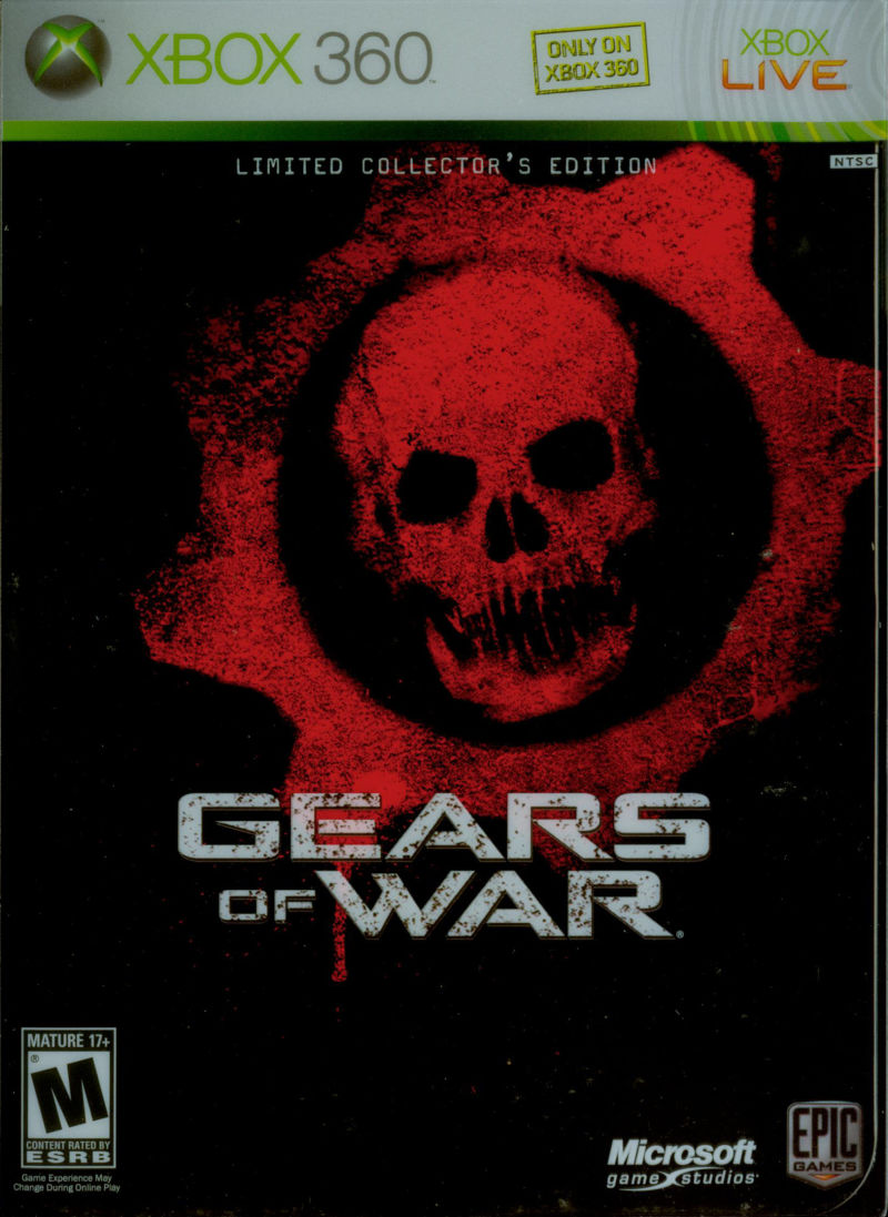 Gears of War (Limited Collector's Edition) Xbox 360 Front Cover Outer Sleeve