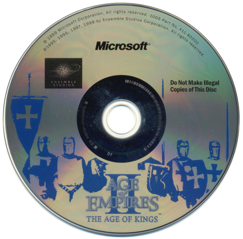 Age of Empires II: Gold Edition Windows Media Age of Kings Disc