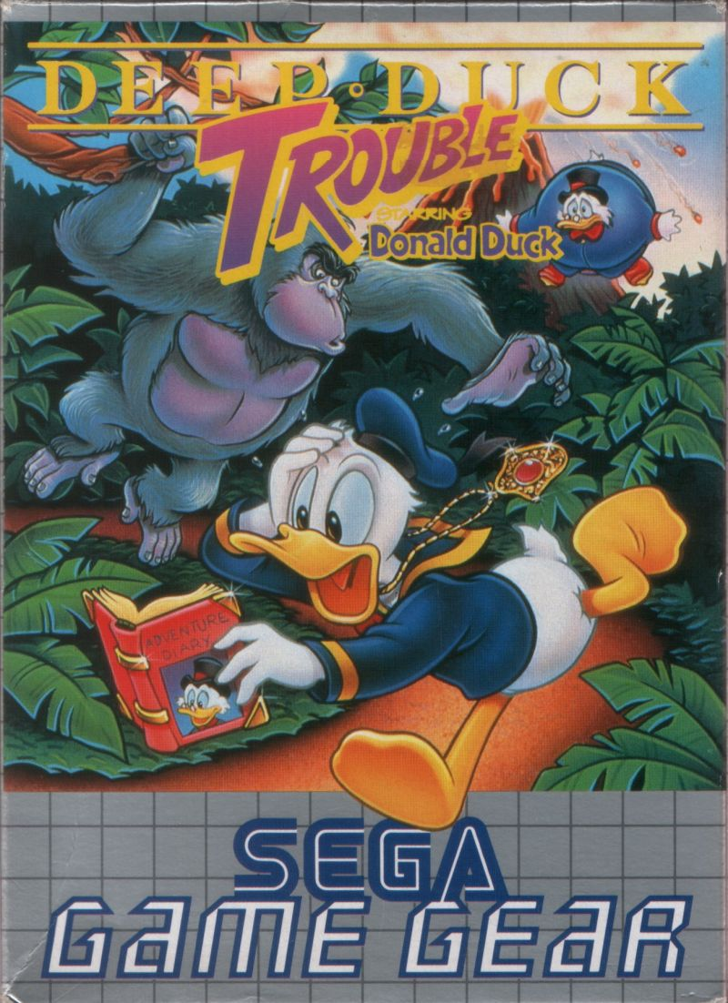 Deep Duck Trouble starring Donald Duck Game Gear Front Cover