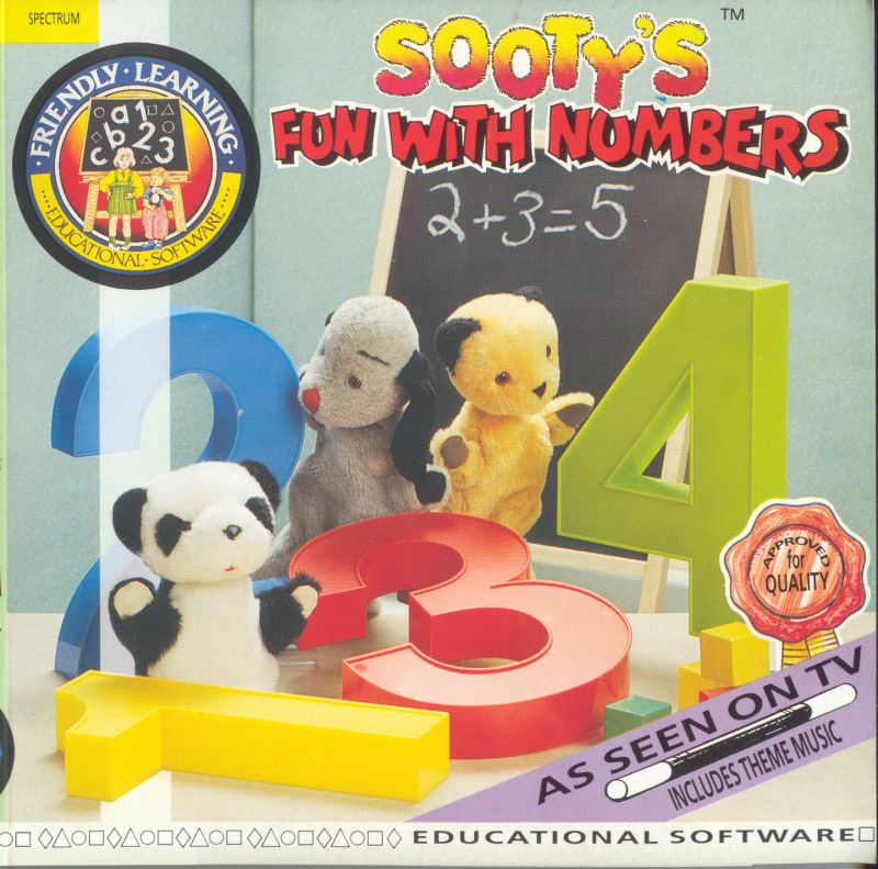 Sooty's Fun With Numbers ZX Spectrum Front Cover