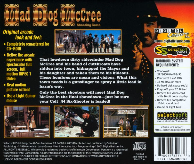 Mad Dog McCree Windows Back Cover