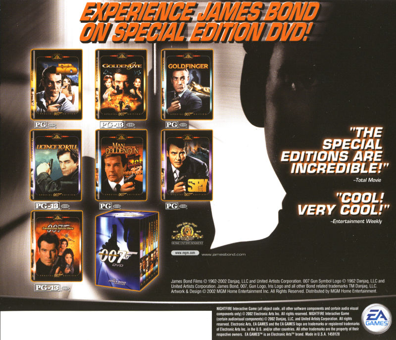 007: Nightfire Windows Other Jewel Case - Back