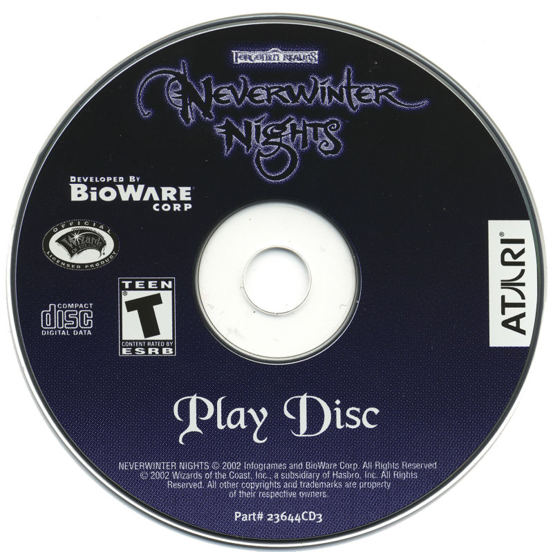 Neverwinter Nights Windows Media Disc 3