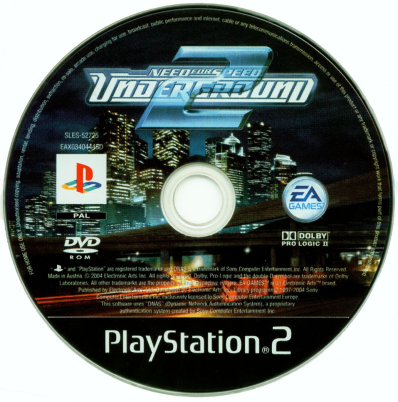 Need for Speed Underground 2 PlayStation 2 Media