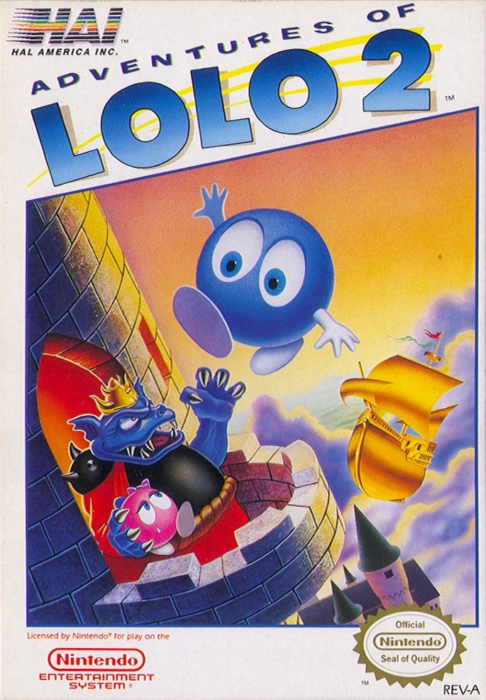 Adventures of Lolo 2 NES Front Cover