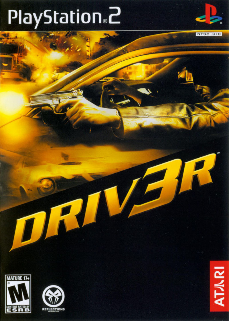 Driv3r PlayStation 2 Front Cover