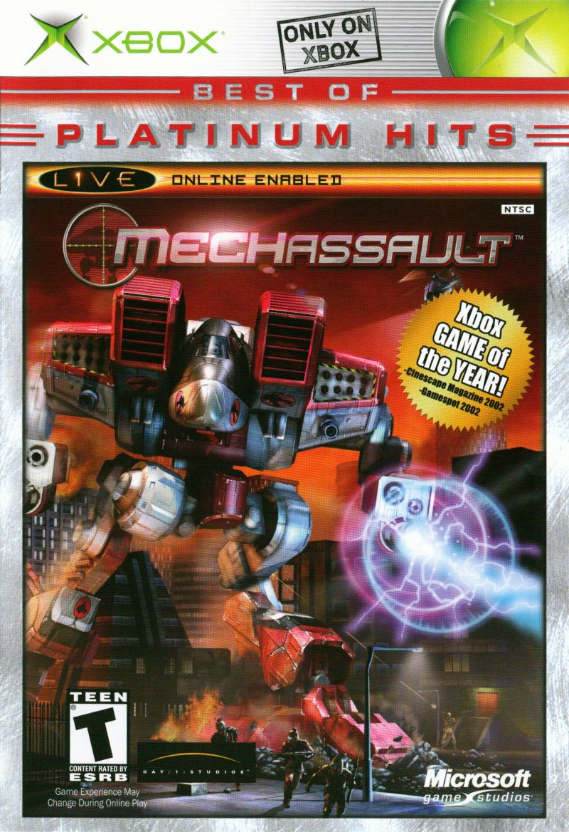 MechAssault (2002) Xbox box cover art - MobyGames