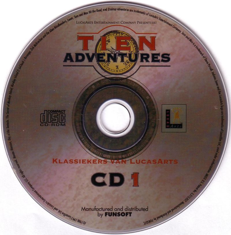 Zehn Adventures DOS Media Disc 1/2