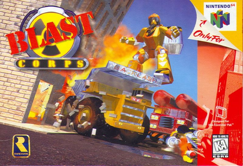 Blast Corps Nintendo 64 Front Cover