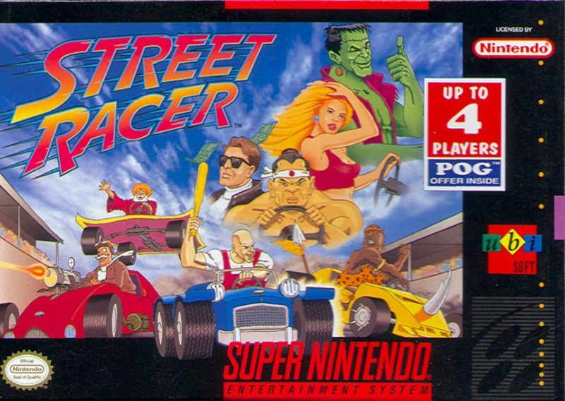 Street Racer SNES Front Cover