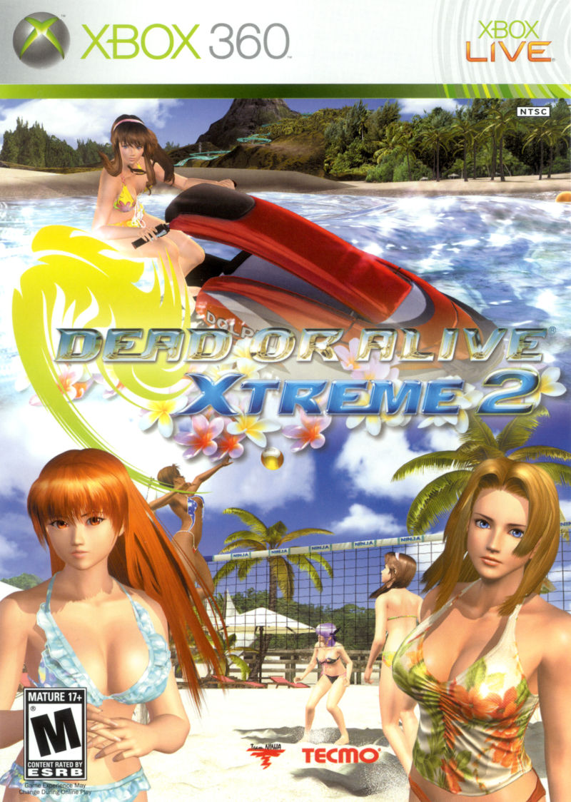 Dead or Alive: Xtreme 2 Xbox 360 Front Cover