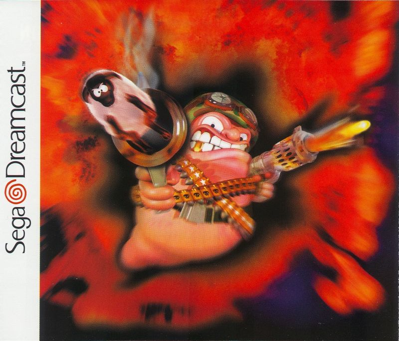Worms Armageddon Dreamcast Inside Cover