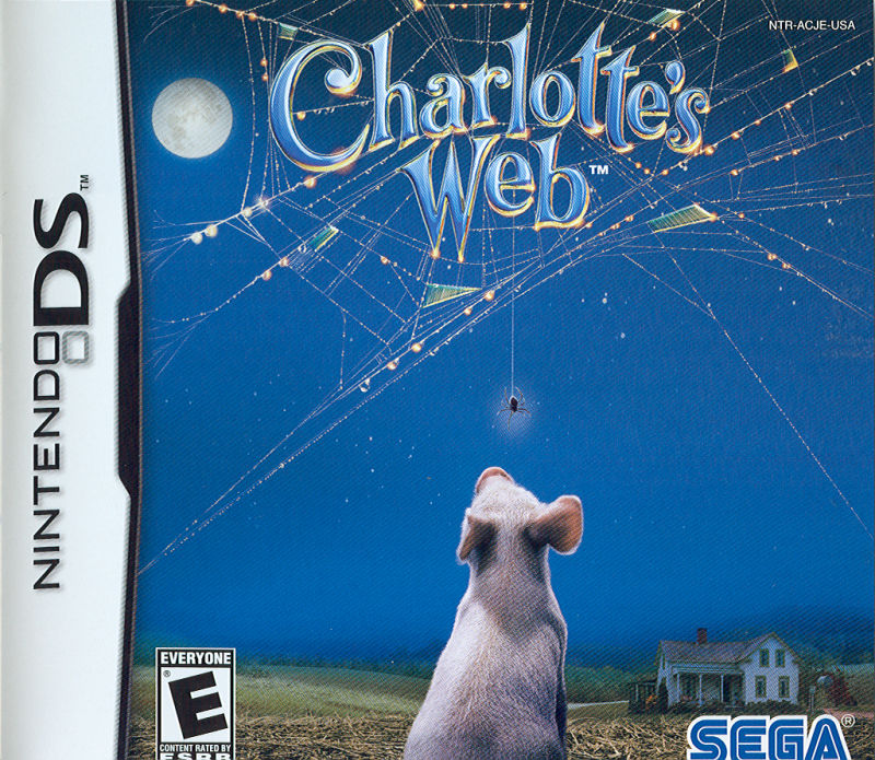 Charlotte's Web Nintendo DS Front Cover