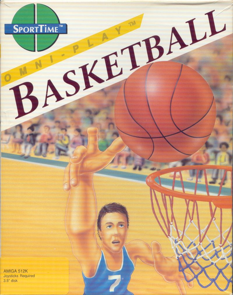 Omni-Play Basketball Amiga Front Cover