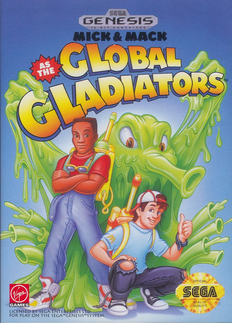 Mick & Mack as the Global Gladiators Genesis Front Cover