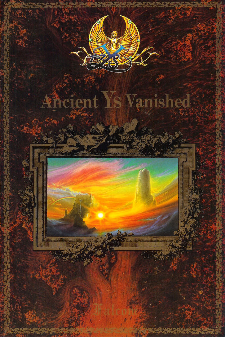 Ys: The Vanished Omens MSX Front Cover