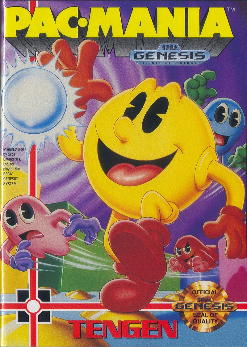 Pac-Mania Genesis Front Cover