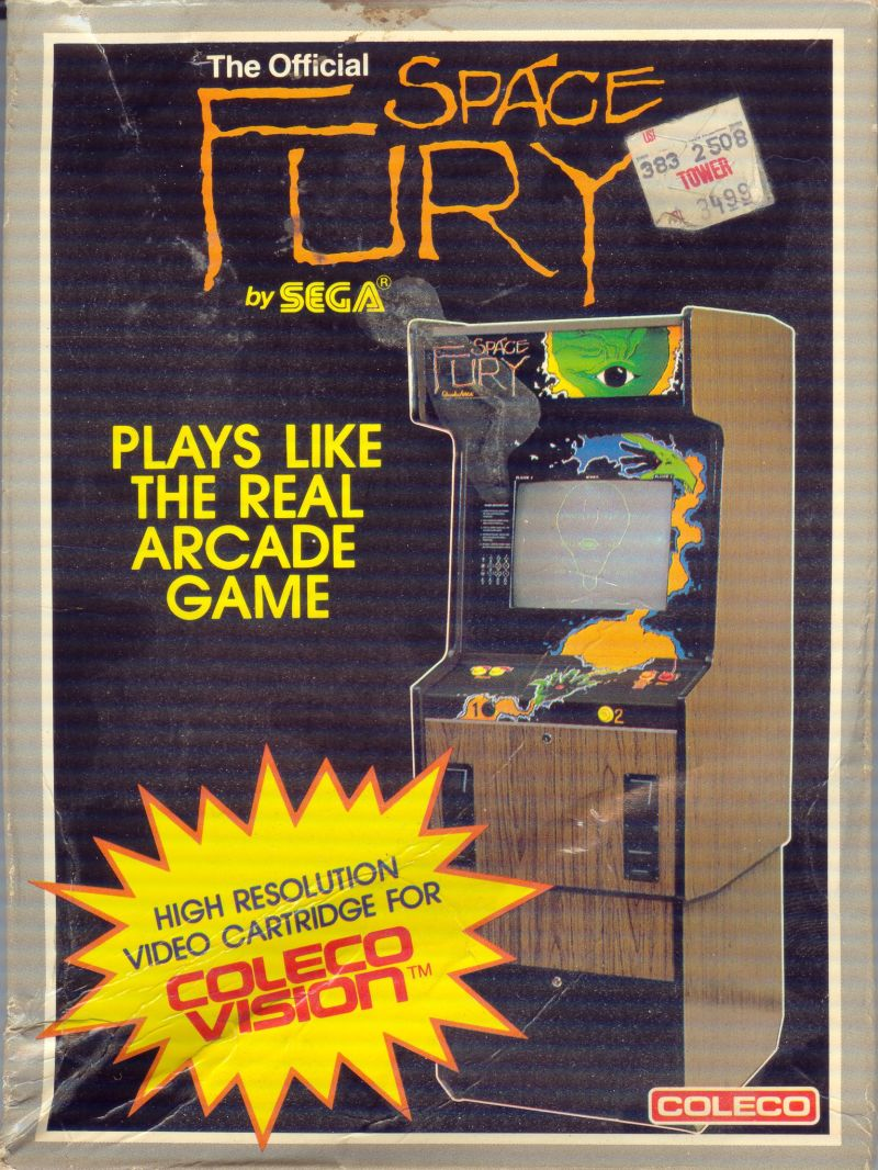 Space Fury ColecoVision Front Cover