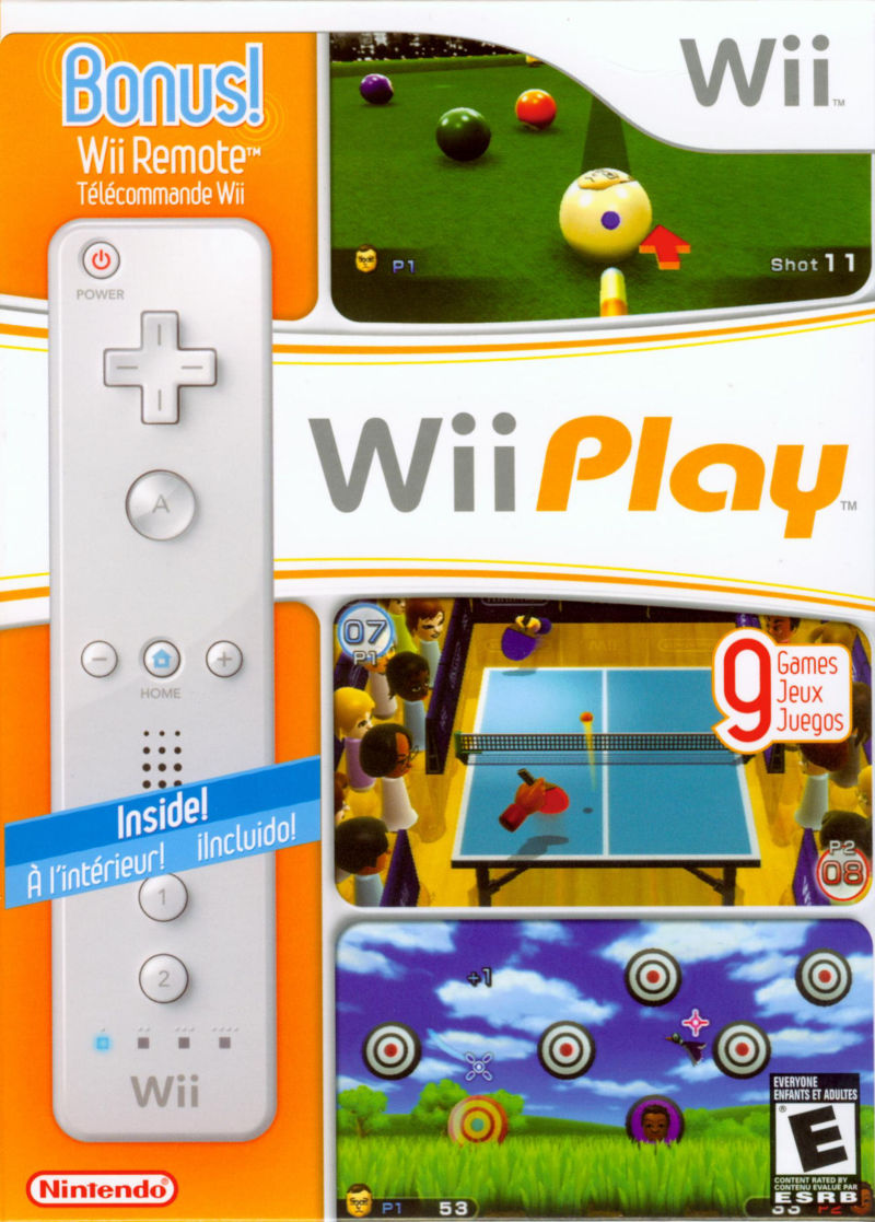 Wii Play Wii Front Cover