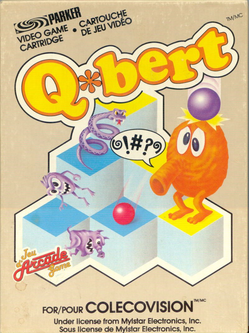Q*bert ColecoVision Front Cover