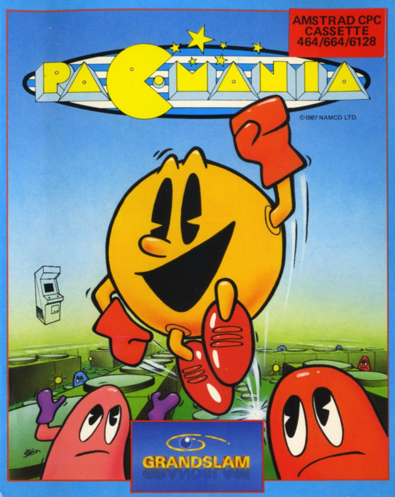 Pac-Mania Amstrad CPC Front Cover