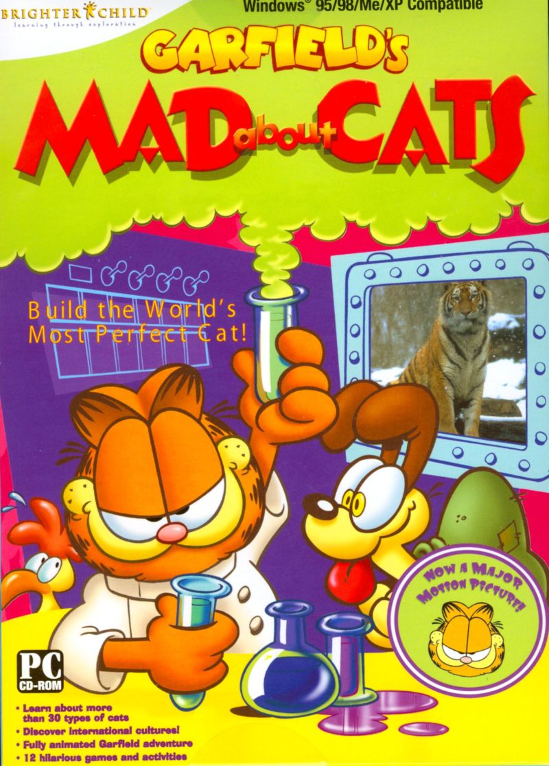 Garfield's Mad About Cats Windows Front Cover