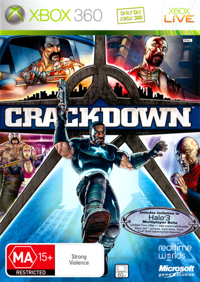 Crackdown Xbox 360 Front Cover