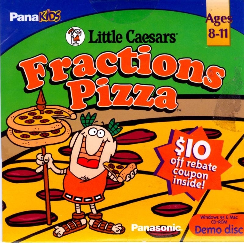 Little Caesars Fractions Pizza Macintosh Front Cover