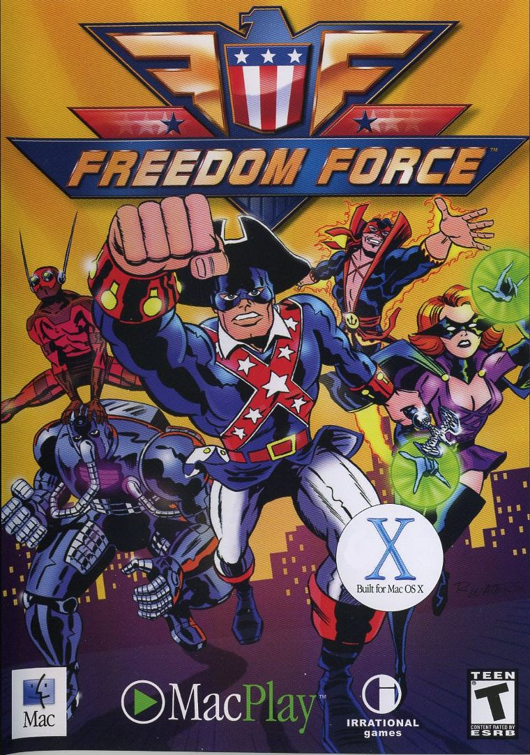 Freedom Force Macintosh Front Cover