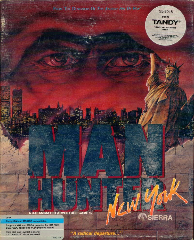 Manhunter: New York DOS Front Cover