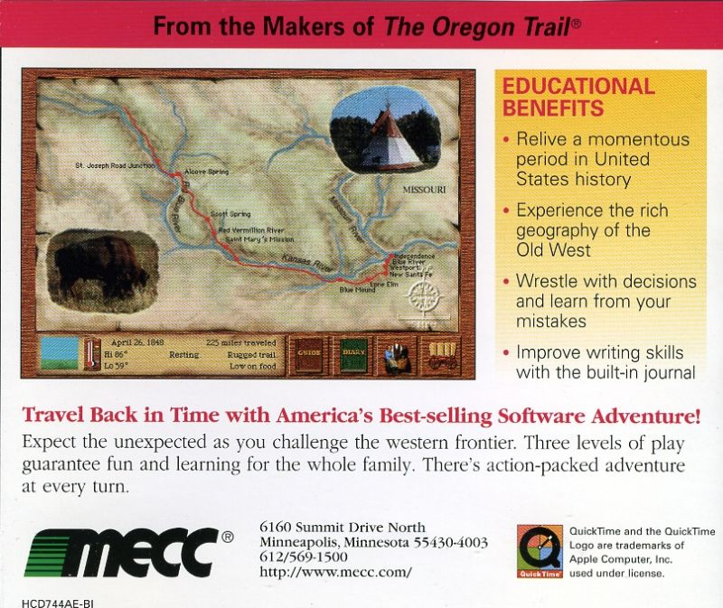 Oregon Trail II: 25th Anniversary Limited Edition Macintosh Other Jewel Case - Back