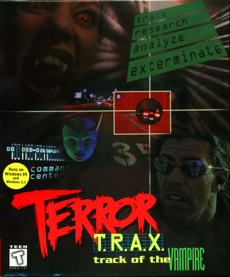 Terror T.R.A.X.: Track of the Vampire DOS Front Cover