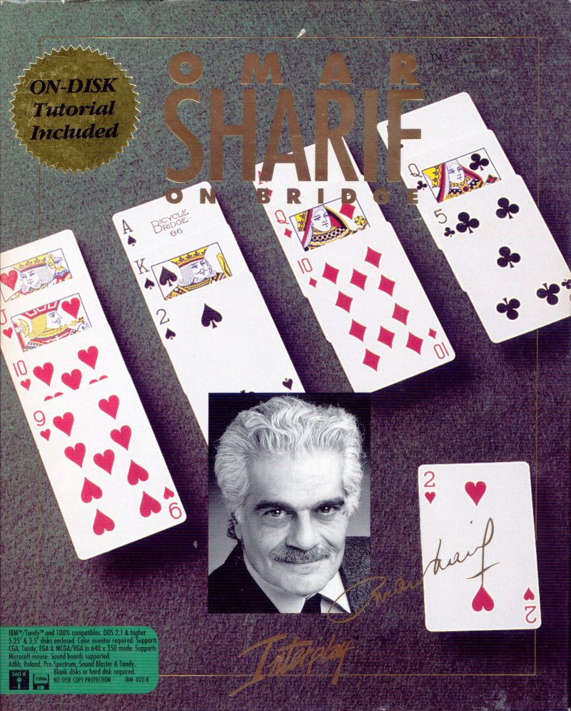 Omar Sharif on Bridge DOS Front Cover