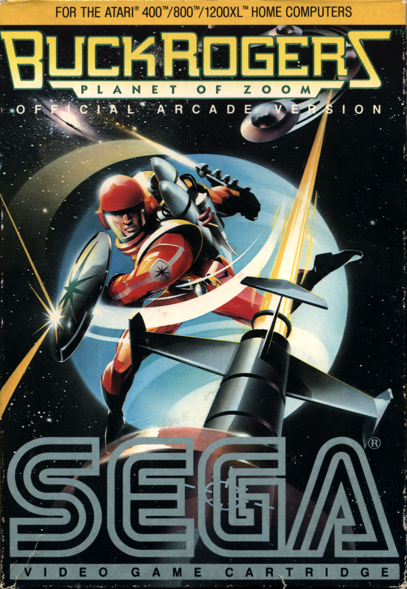 Buck Rogers: Planet of Zoom Atari 8-bit Front Cover