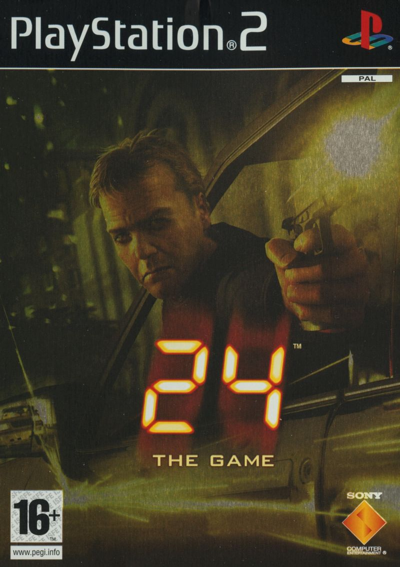 24: The Game PlayStation 2 Front Cover
