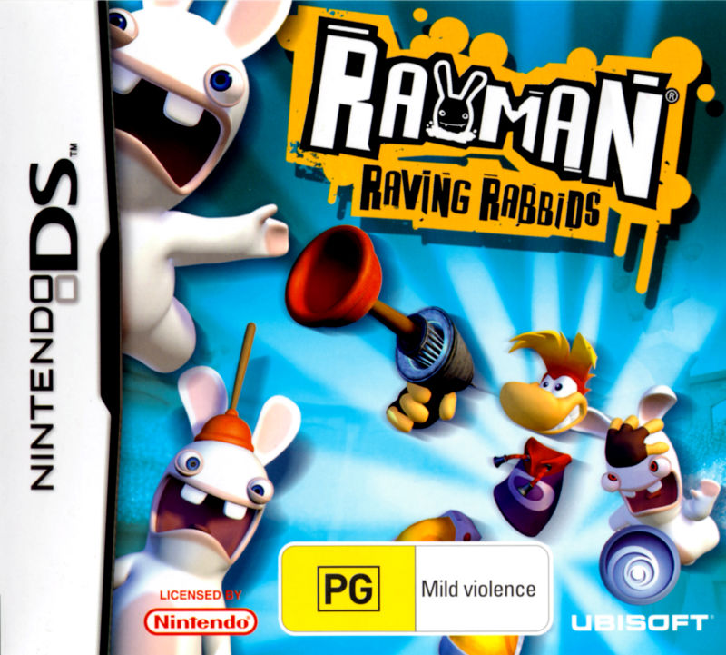 Rayman Raving Rabbids Nintendo DS Front Cover